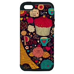 Cute Colorful Doodles Colorful Cute Doodle Paris Apple Iphone 5 Hardshell Case (pc+silicone) by Nexatart