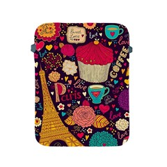 Cute Colorful Doodles Colorful Cute Doodle Paris Apple Ipad 2/3/4 Protective Soft Cases by Nexatart
