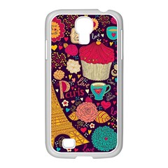 Cute Colorful Doodles Colorful Cute Doodle Paris Samsung Galaxy S4 I9500/ I9505 Case (white) by Nexatart