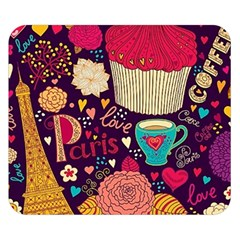 Cute Colorful Doodles Colorful Cute Doodle Paris Double Sided Flano Blanket (small)
