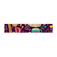 Cute Colorful Doodles Colorful Cute Doodle Paris Flano Scarf (mini) by Nexatart