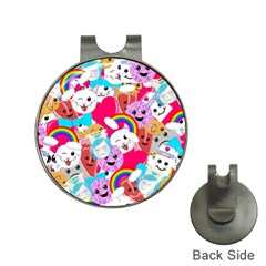 Cute Cartoon Pattern Hat Clips With Golf Markers by Nexatart