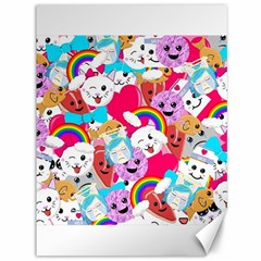 Cute Cartoon Pattern Canvas 36  X 48