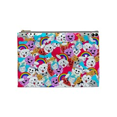 Cute Cartoon Pattern Cosmetic Bag (medium)  by Nexatart
