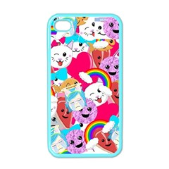 Cute Cartoon Pattern Apple Iphone 4 Case (color) by Nexatart