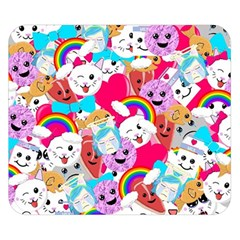 Cute Cartoon Pattern Double Sided Flano Blanket (small)  by Nexatart