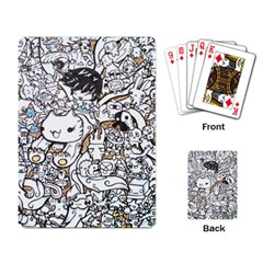 Cute Doodles Playing Card by Nexatart