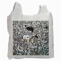 Cute Doodles Recycle Bag (one Side)