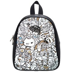 Cute Doodles School Bags (small)  by Nexatart