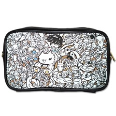 Cute Doodles Toiletries Bags 2-side by Nexatart