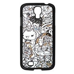 Cute Doodles Samsung Galaxy S4 I9500/ I9505 Case (black) by Nexatart