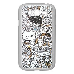 Cute Doodles Samsung Galaxy Grand Duos I9082 Case (white)