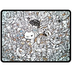 Cute Doodles Double Sided Fleece Blanket (large)  by Nexatart