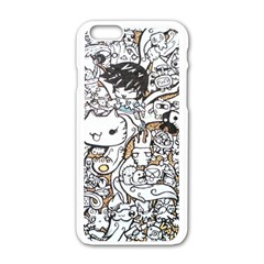 Cute Doodles Apple Iphone 6/6s White Enamel Case by Nexatart
