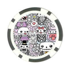 Kawaii Graffiti And Cute Doodles Poker Chip Card Guard (10 Pack) by Nexatart