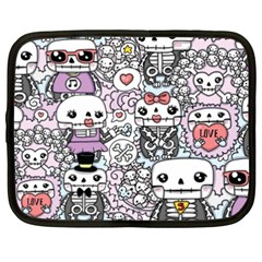 Kawaii Graffiti And Cute Doodles Netbook Case (xxl)  by Nexatart