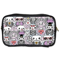 Kawaii Graffiti And Cute Doodles Toiletries Bags 2 Side by Nexatart
