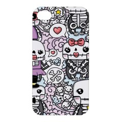 Kawaii Graffiti And Cute Doodles Apple Iphone 4/4s Premium Hardshell Case