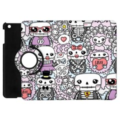 Kawaii Graffiti And Cute Doodles Apple Ipad Mini Flip 360 Case by Nexatart