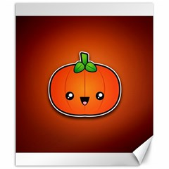 Simple Orange Pumpkin Cute Halloween Canvas 20  X 24   by Nexatart