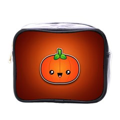 Simple Orange Pumpkin Cute Halloween Mini Toiletries Bags by Nexatart