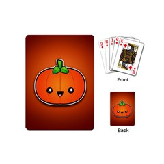Simple Orange Pumpkin Cute Halloween Playing Cards (mini)  by Nexatart
