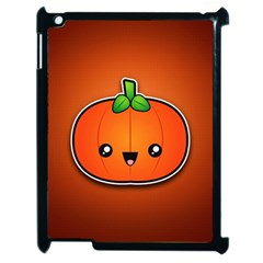 Simple Orange Pumpkin Cute Halloween Apple Ipad 2 Case (black)
