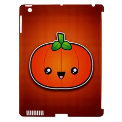 Simple Orange Pumpkin Cute Halloween Apple Ipad 3/4 Hardshell Case (compatible With Smart Cover) by Nexatart
