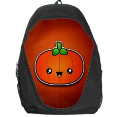 Simple Orange Pumpkin Cute Halloween Backpack Bag by Nexatart