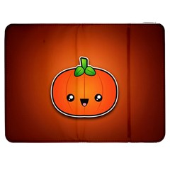 Simple Orange Pumpkin Cute Halloween Samsung Galaxy Tab 7  P1000 Flip Case by Nexatart