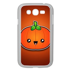 Simple Orange Pumpkin Cute Halloween Samsung Galaxy Grand Duos I9082 Case (white)