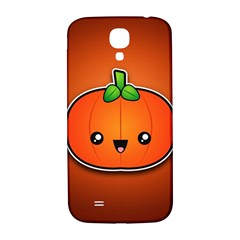 Simple Orange Pumpkin Cute Halloween Samsung Galaxy S4 I9500/i9505  Hardshell Back Case by Nexatart