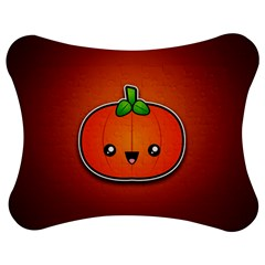 Simple Orange Pumpkin Cute Halloween Jigsaw Puzzle Photo Stand (bow) by Nexatart
