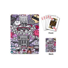 0 Sad War Kawaii Doodle Playing Cards (mini)  by Nexatart