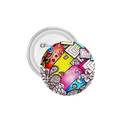 Beautiful Colorful Doodle 1 75  Buttons by Nexatart