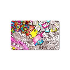 Beautiful Colorful Doodle Magnet (name Card) by Nexatart