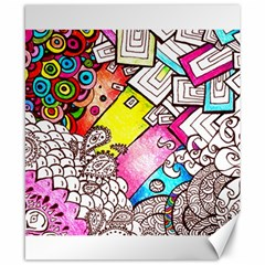 Beautiful Colorful Doodle Canvas 8  X 10  by Nexatart