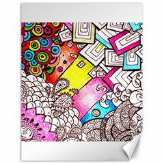 Beautiful Colorful Doodle Canvas 18  X 24   by Nexatart
