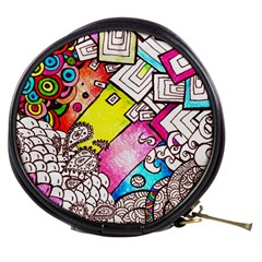 Beautiful Colorful Doodle Mini Makeup Bags by Nexatart