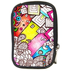 Beautiful Colorful Doodle Compact Camera Cases by Nexatart