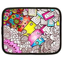 Beautiful Colorful Doodle Netbook Case (xxl)  by Nexatart
