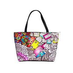 Beautiful Colorful Doodle Shoulder Handbags by Nexatart