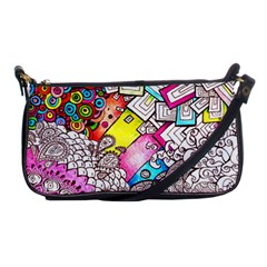 Beautiful Colorful Doodle Shoulder Clutch Bags by Nexatart