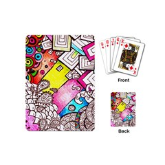 Beautiful Colorful Doodle Playing Cards (mini)  by Nexatart