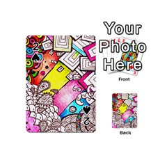 Beautiful Colorful Doodle Playing Cards 54 (mini)  by Nexatart