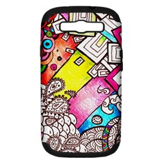 Beautiful Colorful Doodle Samsung Galaxy S Iii Hardshell Case (pc+silicone) by Nexatart