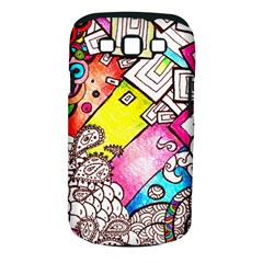 Beautiful Colorful Doodle Samsung Galaxy S Iii Classic Hardshell Case (pc+silicone) by Nexatart