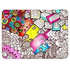Beautiful Colorful Doodle Samsung Galaxy Tab 7  P1000 Flip Case by Nexatart