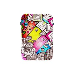 Beautiful Colorful Doodle Apple Ipad Mini Protective Soft Cases by Nexatart