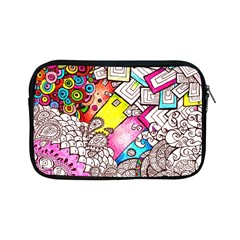 Beautiful Colorful Doodle Apple Ipad Mini Zipper Cases by Nexatart